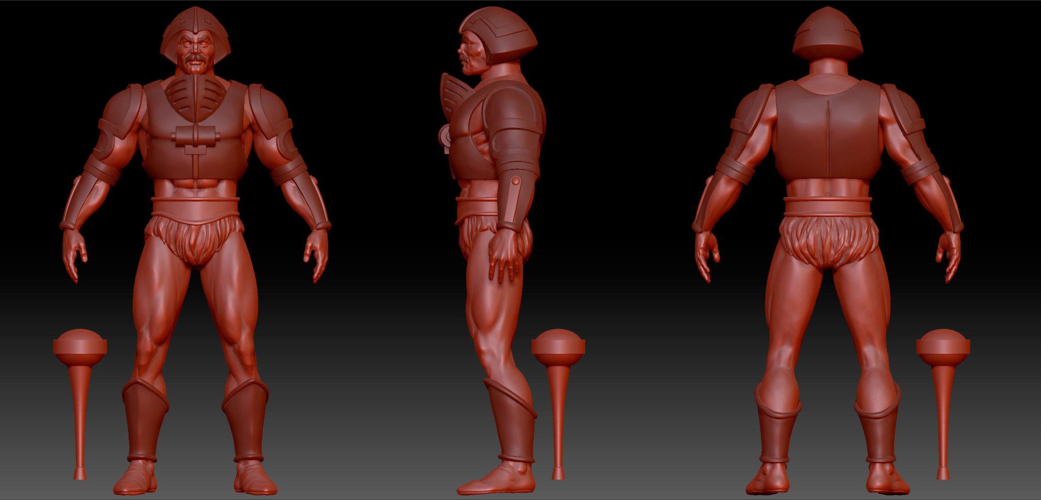 Man-At-Arms digital sculpt