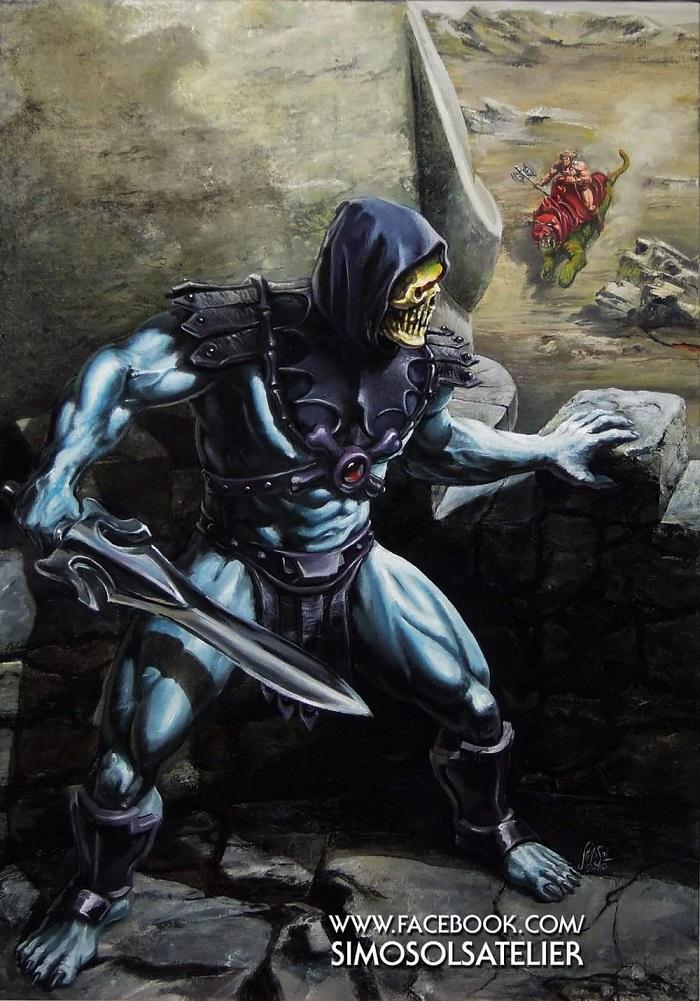 Skeletor portrait