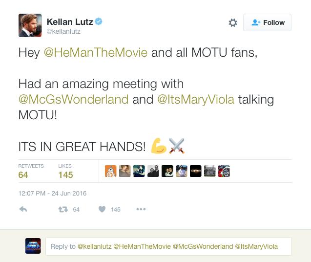 Kellen Lutz He-Man film post